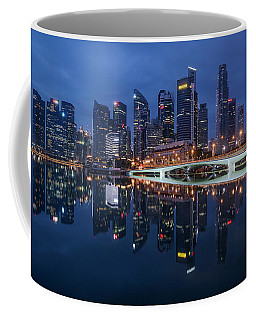 Singapore Skyline Reflection Coffee Mug