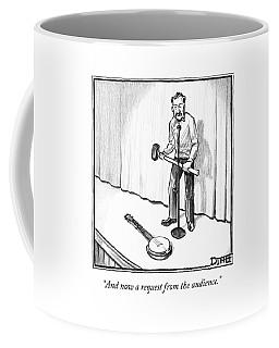 Singer Smashes Banjo Coffee Mug