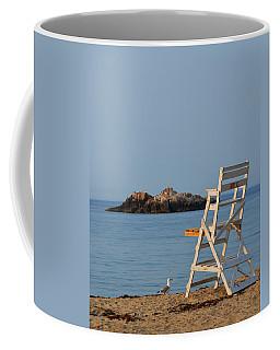 Singing Beach Lifeguard Chair Manchester By The Sea Ma Coffee Mug