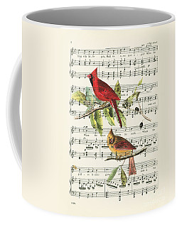 Singing Cardinals Coffee Mug by Delphimages Photo Creations