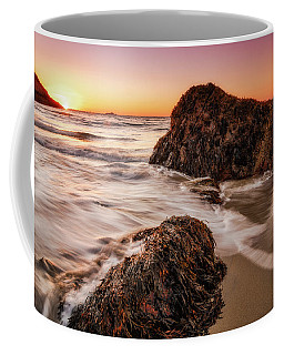 Coffee Mug featuring the photograph Singing Water, Singing Beach by Michael Hubley