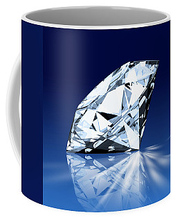Single Blue Diamond Coffee Mug