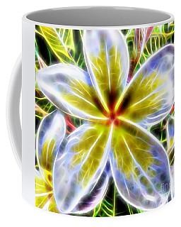 Single Fractal Frangipani Coffee Mug