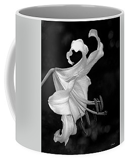 Single Lily In Black And White. Coffee Mug