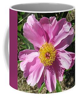 Single Pink Peony Coffee Mug