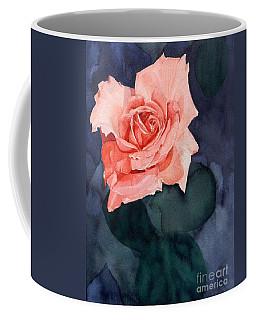 Watercolor Of A Magic Bright Single Red Rose Coffee Mug