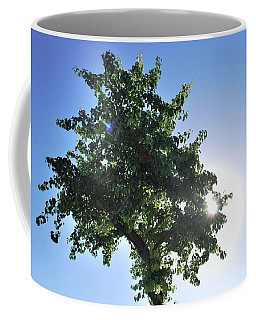 Single Tree - Sun And Blue Sky Coffee Mug