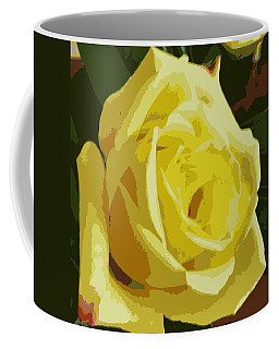 Friendship Rose Abstract Coffee Mug