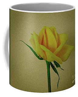 Single Yellow Rose Coffee Mug