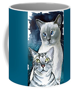 Sini And Nimbus - Cat Portraits Coffee Mug
