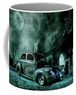 Coffee Mug featuring the photograph Sinister by Steven Agius