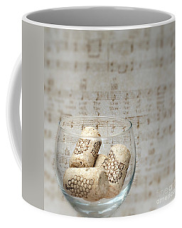 Sipping Wine While Listening To Music Coffee Mug by Sherry Hallemeier