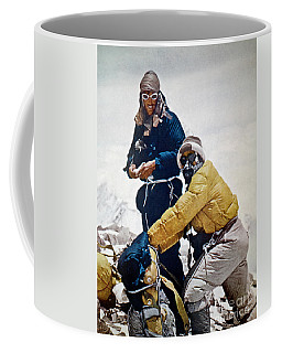Coffee Mug featuring the painting Sir Edmund Hillary by Granger