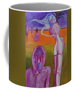 Coffee Mug featuring the painting Sirens by Christophe Ennis