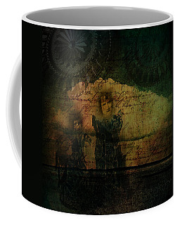 Coffee Mug featuring the digital art Sisters At The Shore by Delight Worthyn