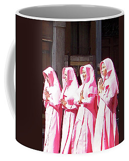 Sisters In Pink Coffee Mug by Susan Lafleur