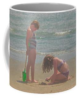 Sisters In The Sand Coffee Mug