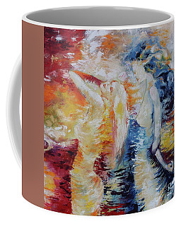 Coffee Mug featuring the painting Sisters by Marat Essex
