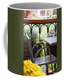 Coffee Mug featuring the photograph Sit A While by Laddie Halupa