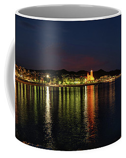 Coffee Mug featuring the photograph Sitges Night 001 by Lance Vaughn