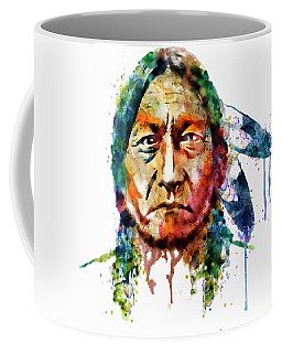 Sitting Bull Watercolor Painting Coffee Mug
