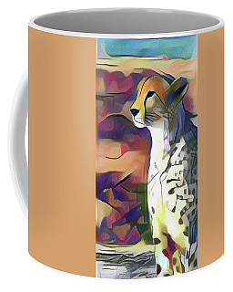Sitting Cheetah  Coffee Mug