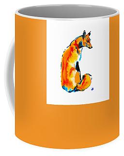 Coffee Mug featuring the painting Sitting Fox by Zaira Dzhaubaeva