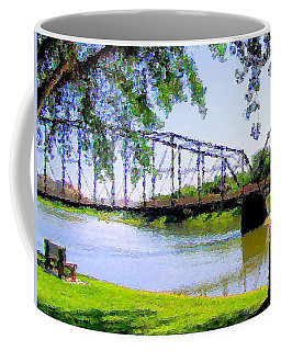 Coffee Mug featuring the photograph Sitting In Fort Benton by Susan Kinney