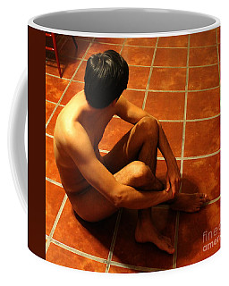 Sitting Naked On The Floor Coffee Mug