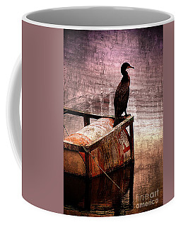 Sitting On The Dock Of The Bay Coffee Mug by Clare Bevan