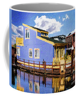 Sitting On The Dock Of The Bay Coffee Mug by Linda Weinstock