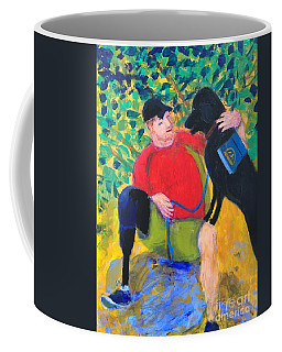 Coffee Mug featuring the painting One Team Two Heroes-4 by Donald J Ryker III