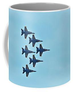 Six Blue Angels In The Clear Blue Sky Coffee Mug