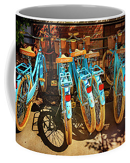 Coffee Mug featuring the photograph Six Huffy Bicycles by Craig J Satterlee