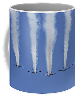 Coffee Mug featuring the photograph Six Roolettes In Formation by Miroslava Jurcik