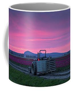Coffee Mug featuring the photograph Skagit Valley Dusk Calm by Mike Reid
