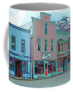 Skagway Alaska Colorful Street Scene Coffee Mug by Rebecca Korpita