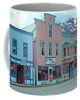 Skagway Alaska Colorful Street Scene Coffee Mug