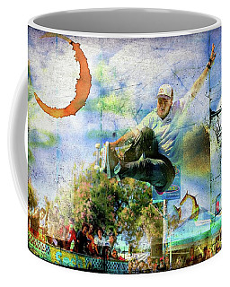Skateboarding, Bowlriders, Skateboarder,red Bull 1 Coffee Mug
