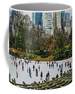Coffee Mug featuring the photograph Skating At Central Park by Sandy Moulder