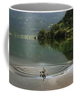 Skc 3996 At The Edge Of A Circle Coffee Mug by Sunil Kapadia