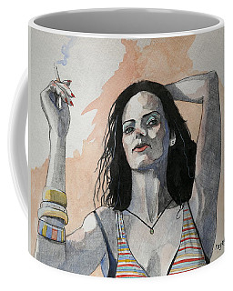 Coffee Mug featuring the painting Sketch For Lucy by Ray Agius