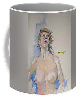 Coffee Mug featuring the painting Sketch For Megan V by Ray Agius