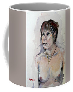 Coffee Mug featuring the painting Sketch For White Amber by Ray Agius