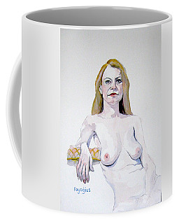 Sketch Mary Leaning Coffee Mug