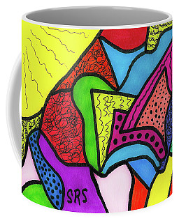 Sketch Of Happy Illumination Coffee Mug by Susan Schanerman