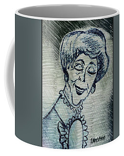 Sketch Of  Old Women Coffee Mug by MaryLee Parker
