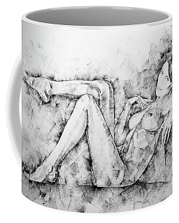 Sketchbook Page 46 Drawing Woman Classical Sitting Pose Coffee Mug