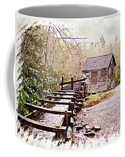 Coffee Mug featuring the photograph Sketchy Mingus Mill 3 by Marty Koch