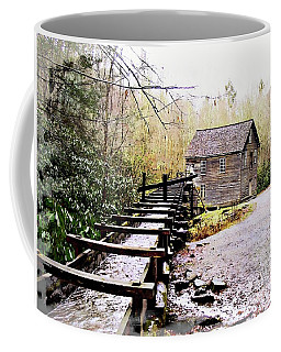 Coffee Mug featuring the photograph Sketchy Mingus Mill  by Marty Koch